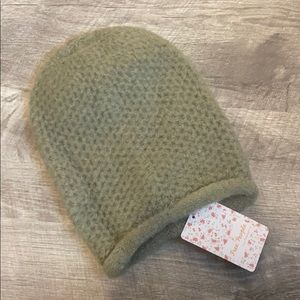 Free People Moss Green Knit Hat